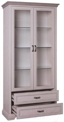 Шкаф с витриной Anrex Monako 2V2S (сосна винтаж/дуб анкона)