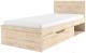 Односпальная кровать Anrex Oskar 90 (дуб санремо) -