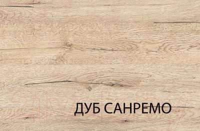Полуторная кровать Anrex Oskar 140 (дуб санремо)