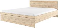 Полуторная кровать Anrex Oskar 140 с ПМ (дуб санремо) -