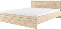 Двуспальная кровать Anrex Oskar 160 с ПМ (дуб санремо) -