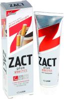 Зубная паста Lion Zact с эффектом отбеливания кофейного и никотинового налета (150г) -