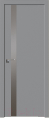Дверь межкомнатная ProfilDoors Модерн 62U 80x200 (манхэттэн/стекло Lacobel серебро матлак)