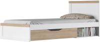 Односпальная кровать Anrex Provans 90 (вудлайн кремовый/дуб кантри) -