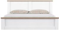Двуспальная кровать Anrex Provans 160 (вудлайн кремовый/дуб кантри) -