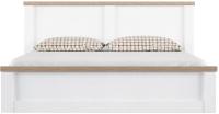 Двуспальная кровать Anrex Provans 160 с ПМ (вудлайн кремовый/дуб кантри) -