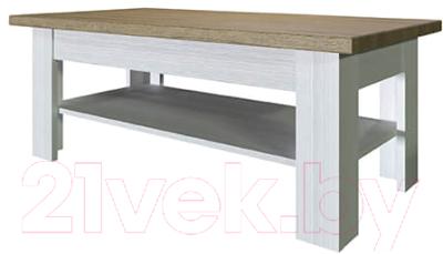Журнальный столик Anrex Provence (вудлайн кремовый/дуб каньон)