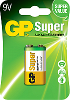 Аккумулятор GP Batteries Super 6LR61/1604A BP (0414511) -