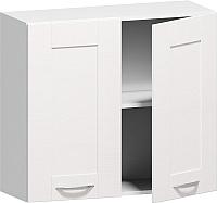 Шкаф навесной для кухни Заречье Румба РБ22 (белый/фасад Weave) -