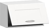 Шкаф навесной для кухни Заречье Румба РБ24 (белый/фасад Weave) -