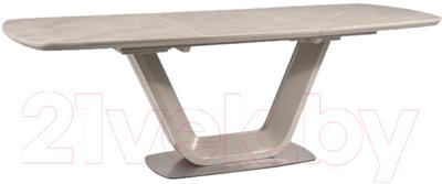 Обеденный стол Signal Armani Ceremic 160 (серый матовый)