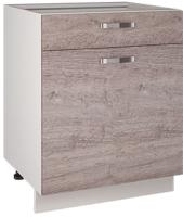 Шкаф-стол кухонный Anrex Alesia 1D1S/60-F1 (серый/дуб анкона) -