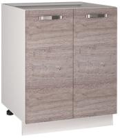 Шкаф-стол кухонный Anrex Alesia 2D/60-F1 (серый/дуб анкона) -