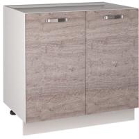 Шкаф-стол кухонный Anrex Alesia 2D/80-F1 (серый/дуб анкона) -