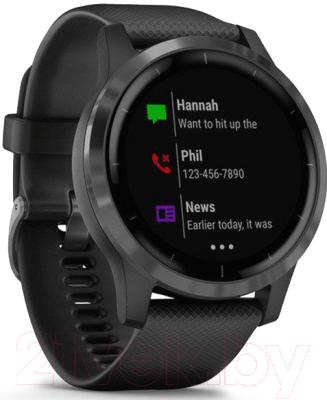 Умные часы Garmin Vivoactive 4 / 010-02174-13 (черный)