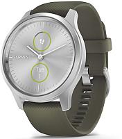 Умные часы Garmin Vivomove Style / 010-02240-21 (серебристый/зеленый) -