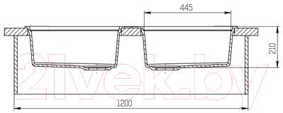 Мойка кухонная KitKraken Duo Lake O-510.2B (графит)