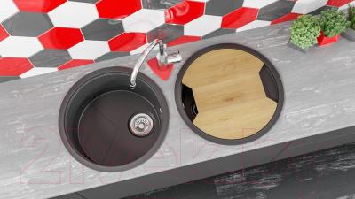 Мойка кухонная KitKraken Duo Lake O-510.2B + разделочная доска (белый)