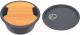 Мойка кухонная KitKraken Duo Spring C-510 + разделочная доска (графит) -