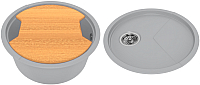Мойка кухонная KitKraken Duo Spring C-510 + разделочная доска (серый) -
