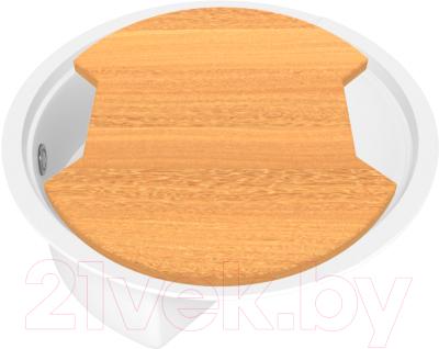 Мойка кухонная KitKraken Stream C-510M + разделочная доска (белый)
