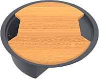 Мойка кухонная KitKraken Stream C-510M + разделочная доска (графит) -