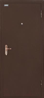Входная дверь el'Porta Ультра Лайт Антик медь/Белый дуб (85x205, правая)
