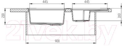 Мойка кухонная KitKraken Duo Stream C-510M (графит)