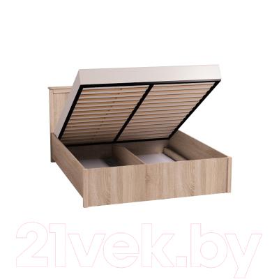 Двуспальная кровать Глазов Sherlock 41.2 с ПМ 180x200 (дуб сонома)