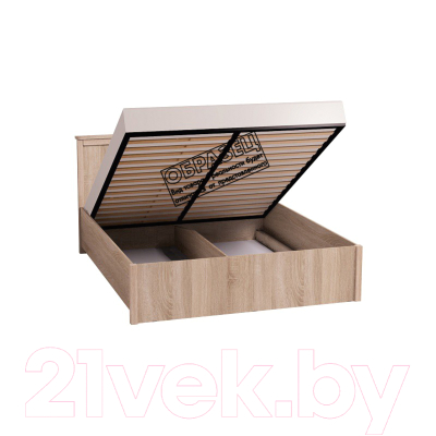 Двуспальная кровать Глазов Sherlock 41.2 с ПМ 180x200 (ясень анкор светлый)