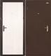 Входная дверь el'Porta Ультра Лайт Антик медь/Белый дуб (85x205, левая) -