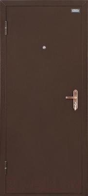 Входная дверь el'Porta Ультра Лайт Антик медь/Венге (85x205, левая)