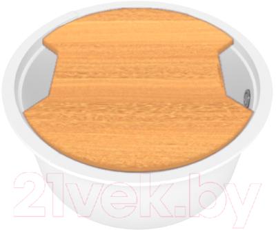 Мойка кухонная KitKraken Lake O-510 + разделочная доска доска разделочная петергоф 19х27см фанера