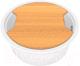 Мойка кухонная KitKraken Lake O-510 + разделочная доска (белый) -