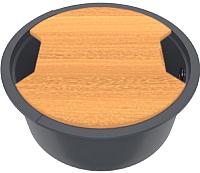 Мойка кухонная KitKraken Lake O-510 + разделочная доска (графит) -
