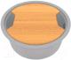 Мойка кухонная KitKraken Lake O-510 + разделочная доска (серый) -