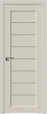 Дверь межкомнатная ProfilDoors Модерн 71U 60x200 (магнолия сатинат/стекло графит)