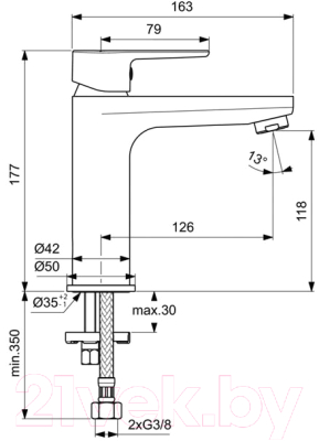 Смеситель Ideal Standard Cerafine O BC554AA