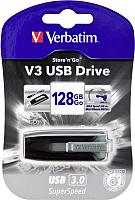 Usb flash накопитель Verbatim V3 Store 'n' Go 128GB / 49189 (черный) -