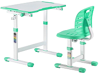 Парта+стул FunDesk Omino (зеленый) -