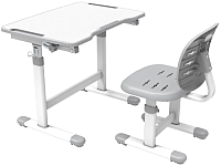 Парта+стул FunDesk Omino (серый) -