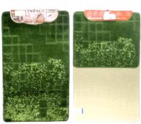Набор ковриков Shahintex Vintage SHV001 60x100/60x50 (зеленый) -