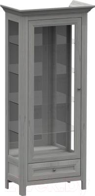 Шкаф с витриной WellMaker Норманн ШВ1-80 ПП (люберон)