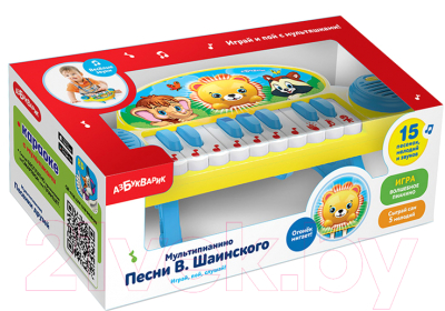 Музыкальная игрушка Азбукварик Мультипианино. Песни В.Шаинского / AZ-2175