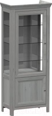 Шкаф с витриной WellMaker Норманн ШВ2-80 ПП (люберон)