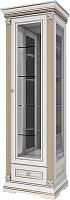 Шкаф с витриной WellMaker Патриция Элегант ШВ1-60 (альпийский/латунь) -
