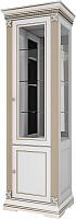 Шкаф с витриной WellMaker Патриция Элегант ШВ2-60 (альпийский/латунь) -