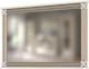 Зеркало WellMaker Патриция Элегант ЗН-150 (альпийский/латунь) -