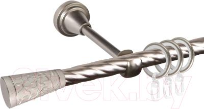 Карниз для штор АС ФОРОС Grace D16K составной + наконечники Севилья (2.8м, сатин)