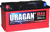 Автомобильный аккумулятор Uragan 90 L+ / 090 10 10 01 0201 09 11 9 R (90 А/ч) -